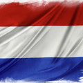 Netherlands Flag by Les Cunliffe