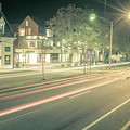 Newport Rhode Island City Streets In The Evening by Alex Grichenko