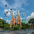 Notre-dame Cathedral Basilica Of Saigon, Officially Cathedral Basilica Of Our Lady Of The Immaculate by Binh Ho Ngoc