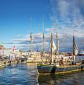 Old Sailing Boats In Helsinki City Harbor Port Finland by Jacek Malipan