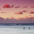 Paddlers At Sunset by Vince Cavataio - Printscapes
