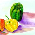 3 Peppers by Barbara Lemley