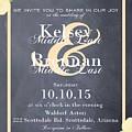 Personalized Wedding Invitation by Priscilla Wolfe