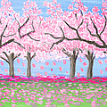 Pink Garden, Oil Painting by Irina Afonskaya