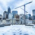 Rare Winter Weather In Charlotte North Carolina by Alex Grichenko