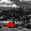 Red Barn In Wyoming by Mountain Dreams