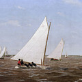 Sailboats Racing On The Delaware by Thomas Eakins