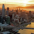 San Francisco Financial District Skyline by David Oppenheimer