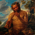 Satyr Playing The Pipe by Jacob Jordaens