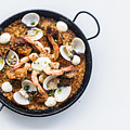 Seafood And Rice Paella Traditional Spanish Food by Jacek Malipan