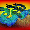 3 Serpents In The Sand  by Peter Ogden Gallery