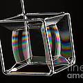Soap Films On A Cube by Ted Kinsman