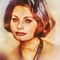 Sophia Loren, Vintage Hollywood Actress by Mary Bassett