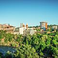 Spokane Washington City Skyline And Streets by Alex Grichenko