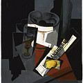Still Life With Newspaper  by Juan Gris