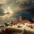 Stormy Sea With Ship Wreck by MotionAge Designs