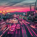 Street Scenes Around Las Vegas Nevada At Dusk by Alex Grichenko