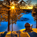 Sun Setting On The Moose River by David Patterson