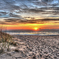 Sunrise Outer Banks Of North Carolina Seascape by Greg Hager