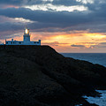 Sunset At Strumble Head Lighthouse by Ian Middleton