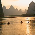 Sunset On The Li River by Michele Burgess