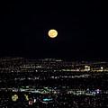 Super Moon In Las Vegas by Sv