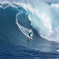 Surfing The Infamous Jaws by Ron Dahlquist - Printscapes