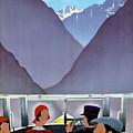 Switzerland Vintage Travel Poster Restored by Vintage Treasure