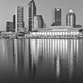 Tampa Bay Black And White by Frozen in Time Fine Art Photography