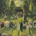 Tennis At Newport by George Bellows