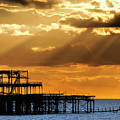 The West Pier In Brighton At Sunset by Dutourdumonde Photography