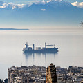 Thessaloniki With View Of Olympus by George Papanas