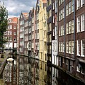 Traditional Canal Houses In Amsterdam. Netherlands. Europe by Bernard Jaubert