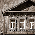 Traditional Old Russian House Facade by Alexey Stiop