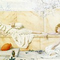 Two Classical Figures Reclining Henry Ryland by Eloisa Mannion