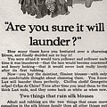 Sure It Will Launder Vintage Soap Ad  by Anne Kitzman