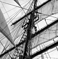Vintage Style Picture Of Beautiful Sail Boat Details. Rope, Hull by Matthew Gibson