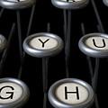 Vintage Typewriter Keys Close Up by Allan Swart