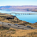 Wanapum Lake Colombia River Wild Horses Monument And Canyons by Alex Grichenko