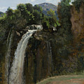 Waterfall At Terni by Camille Corot