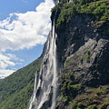 Waterfall In Geiranger Norway by Arild Lilleboe