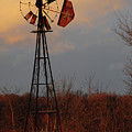 Windmill At Dusk by David Arment