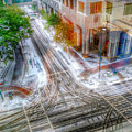 Winter Storm Passing Through Charlotte North Carolina by Alex Grichenko