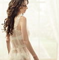 Woman In Vintage Negligee by Amanda Elwell
