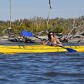 Woman Kayaking by Anthony Totah