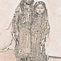 Young Comanche Girls by Dennis Larson