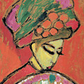 Young Girl With A Flowered Hat by Alexei Jawlensky
