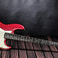301.1834 Fender Red Jazz Bass 1965 In Color by M K Miller