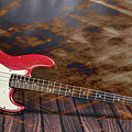 302.1834 Fender Red Jazz Bass 1965 In Color by M K Miller