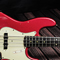 303.1834 Fender Red Jazz Bass 1965 In Color by M K Miller